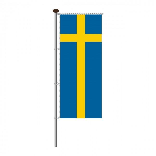 Fahne Schweden für Auslegermast