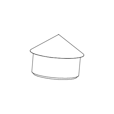 Abdeckkappe grau Ø 60 mm
