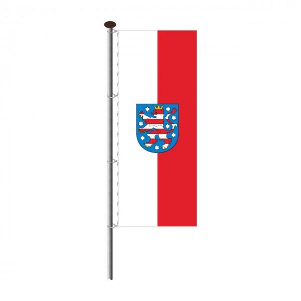 Fahne Thüringen im Hochformat