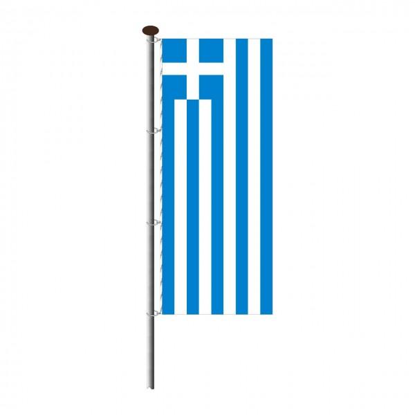 Fahne Griechenland im Hochformat