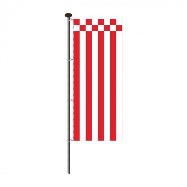 Fahne Bremen ohne Wappen im Hochformat