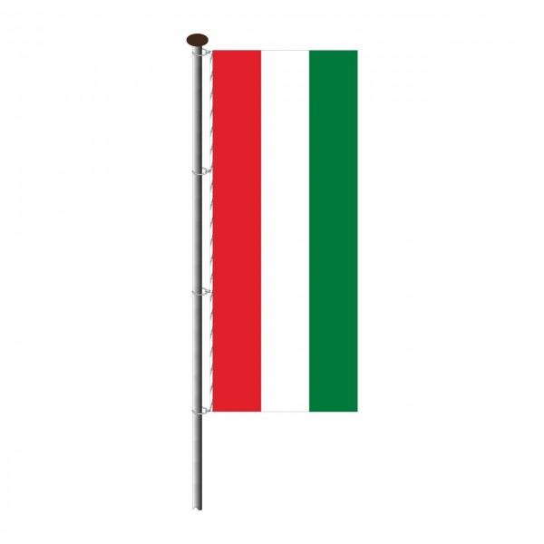 Fahne Ungarn im Hochformat