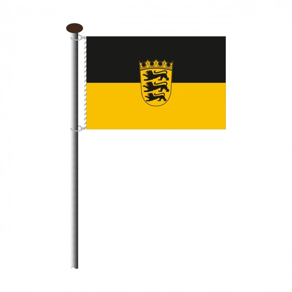 Fahne Baden Württemberg im Querformat